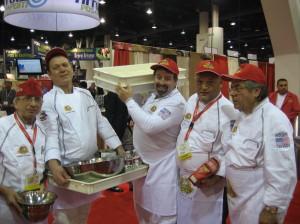 Roberto Carporuscio, and Jonathan Goldsmith at the Las Vegas Pizza Convention