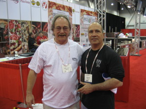 Albert Grande and John Arena at the Pizza Expo.