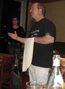John Arena, discusses pizza