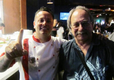 Tony Gemignani and Albert Grande at Pizza Rock, Las Vegas