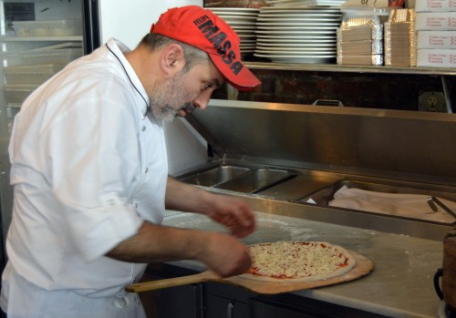 Chef Maurizio Crescenzo making pizza