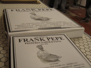 The Frank Pepe Pizza Box