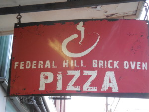 Federal Hill Pizza, Warren Rhode Island