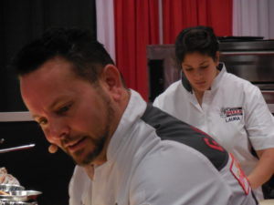 Tony Gemignani and Laura Meyer at Pizza Demo