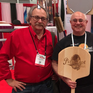Albert Grande and Peter Reinhart at Pizza Expo